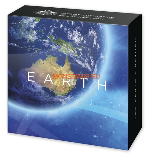 Австралия 5 долларов 2018 Земля серия За Пределами Земли Выпуклая (Australia 2018 $5 The Earth and Beyond the Earth Silv Proof Domed Coin).Арт.60 (фото, вид 4)