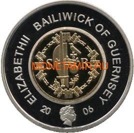 Гернси 2 фунта 2006 Стефан Нормандская династия Королевские династии Англии (Guernsey 2 pounds 2006 Stefan Norman Dynasty Royal Dynasties of England).Арт.257492/85D (фото, вид 1)