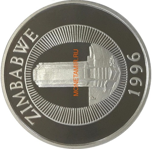Зимбабве 10 долларов 1996 Носорог (Zimbabwe 10$ 1996 Rhinoceros).Арт.000209655905 (фото, вид 1)