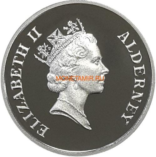 Олдерни 1 фунт 1995 Мир в Европе Вторая Мировая Война (Alderney 1 pound 1995 Peace in Europe).Арт.60 (фото, вид 1)