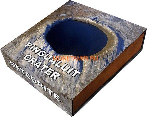 Ниуэ 1 доллар 2018 Метеоритный кратер Пингуалуит (Niue 1$ 2018 Pingualuit Meteorite Crater).Арт.60 (фото, вид 4)