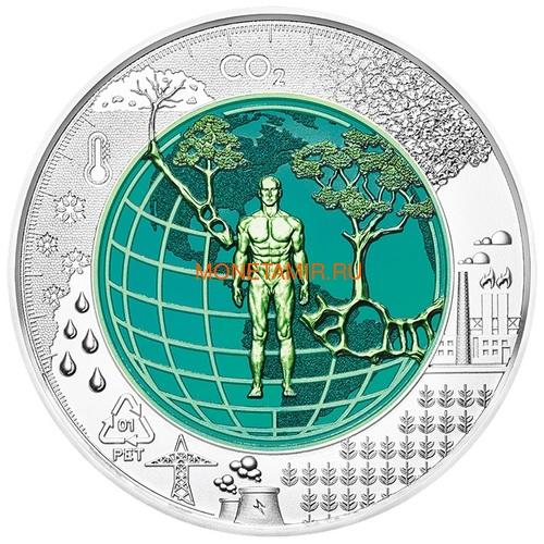 Австрия 25 евро 2018 Антропоцен (Austria 25 euro 2018 Anthropocene Silver Niobium Coin).Арт.60 (фото, вид 1)