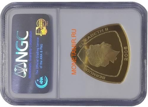 Бермуды 30 долларов 2006 Корабль Мария Целеста – Кораблекрушение Слаб NGC (Bermuda 30$ 2006 Sea Venture Triangular Gold Coin NGC Gem Proof).Арт.K2G/67 (фото, вид 1)