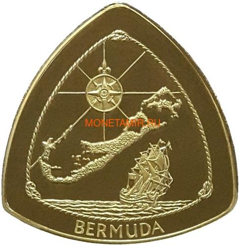 Бермуды 3х30 долларов 1996-1998 Бермудский Треугольник Корабли Компас Карта Набор 3 монеты (Bermuda 3х30$ 1996-1998 Gold Coins Set Bermuda Triangle Ships Compass Map).Арт.63 (фото, вид 1)