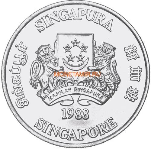 Сингапур 10 долларов 1988 Год Дракона (Singapore 10$ 1988 Year of the Dragon Lunar).Арт.66D39755/63 (фото, вид 1)