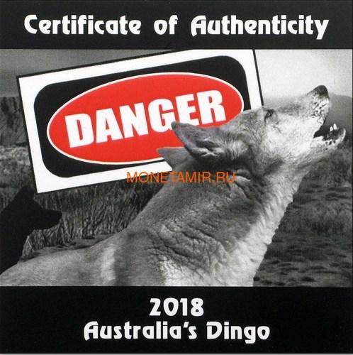Тувалу 1 доллар 2018 Динго серия Смертельно Опасные (Tuvalu 1$ 2018 Deadly and Dangerous Dingo 1oz Silver Coin).Арт.000403156171/92 (фото, вид 6)