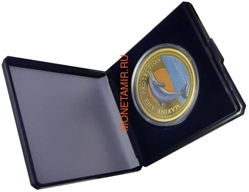 Палау 200 долларов 1998 Дельфин Корабль Нептун Защита Морской Жизни (Palau 1998 $200 Dolphin Marine Life Protection 1Oz Gold Proof).Арт.009527155896K2,3G/63 (фото, вид 2)