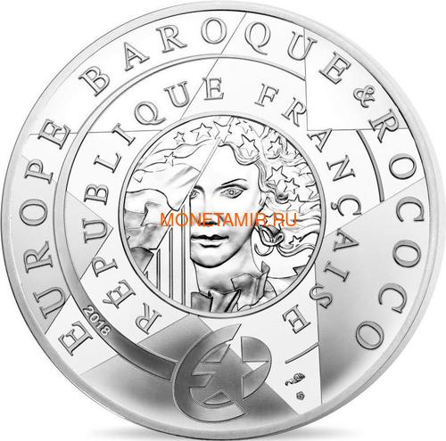 Франция 10 евро 2018 Барокко и Рококо Вольтер и Король Людовик XIV (France 10 Euro 2018 Baroque and Rococo).Арт.000316856129/63 (фото, вид 1)