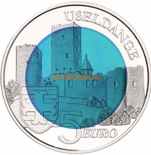 Люксембург 5 евро 2017 Замок Юзельданж Замки Люксембурга Ниобий (Luxemburg 5 Euro 2017 Castle Useldange Niob).Арт.000584554499/60 (фото, вид 1)