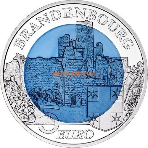 Люксембург 5 евро 2015 Замок Бранденбург Замки Люксембурга Ниобий (Luxemburg 5 Euro 2015 Castle Brandenburg BM Niob).Арт.000607351104/60 (фото, вид 1)