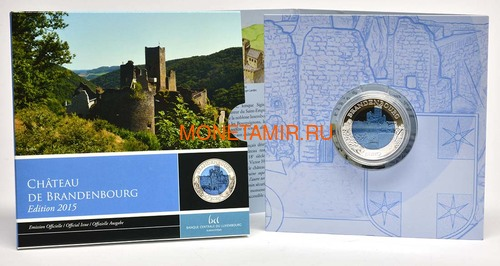 Люксембург 5 евро 2015 Замок Бранденбург Замки Люксембурга Ниобий (Luxemburg 5 Euro 2015 Castle Brandenburg BM Niob).Арт.000607351104/60 (фото, вид 3)
