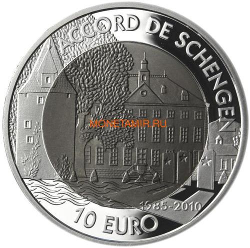 Люксембург 10 евро 2010 Шенгенское Соглашение (Luxemburg 10 Euro 2010 25e anniversaire de l'Accord de Schengen BM).Арт.000329247874/60 (фото, вид 1)