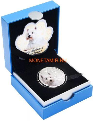 Ниуэ 1 доллар 2014 Вест Хайленд Уайт Терьер Собака Лучший Друг Человека (Niue 1$ 2014 West Highland White Terrier Man's Best Friends).Арт.63 (фото, вид 2)