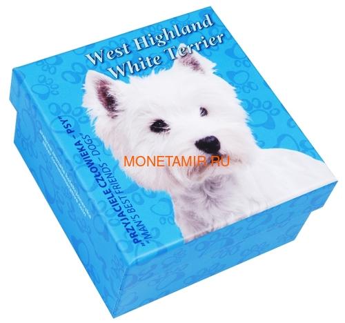 Ниуэ 1 доллар 2014 Вест Хайленд Уайт Терьер Собака Лучший Друг Человека (Niue 1$ 2014 West Highland White Terrier Man's Best Friends).Арт.63 (фото, вид 3)