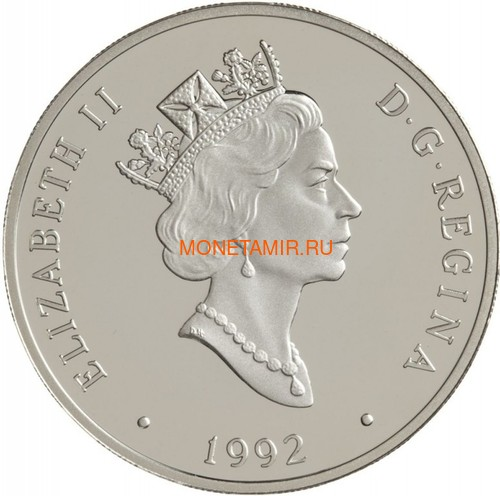 Канада 20 долларов 1992 Де Хэвиленд Джипси Мот Муртон А.Сеймура Авиация (Canada 20$ 1992 Aviation Series De Havilland Gipsy Moth Murton A.Seymour 1oz Silver Coin).Арт.68 (фото, вид 1)