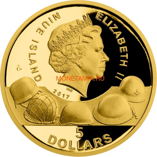 Ниуэ 4х5 долларов 2017 Великая Отечественная Война 1942 год Набор Золотых Монет Сталинград Эль Аламейн Мидуэй Проект Манхэттен Танк Корабль Бомба (Niue 4х5$ 2017 Set Gold Coins War 1942 Stalingrad El Alamein Midway Project Manhattan).Арт.005974654790K1,4G (фото, вид 6)