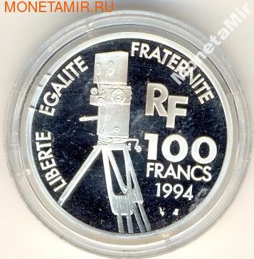Франция 100 франков 1994. Чарли Чаплин (фото, вид 1)