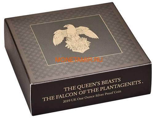 Великобритания 2 фунта 2019 Сокол Плантагенетов серия Звери Королевы (GB 2£ 2019 Queen's Beast The Falcon of the Plantagenets).Арт.70 (фото, вид 5)
