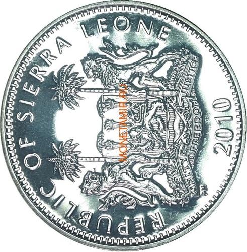 Сьерра Леоне 1 доллар 2010 Майкл Джексон (Sierra Leone 1$ 2010 Michael Jackson).Арт.000047542728/63 (фото, вид 1)