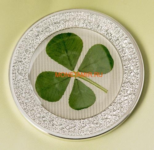 Палау 5 долларов 2019 Клевер Унция удачи (Palau 5$ 2019 Ounce of Luck 4-leaf Clover).Арт.69 (фото, вид 3)
