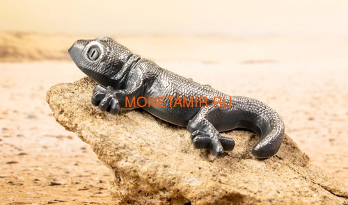Палау 5 долларов 2018 Ящерица Геккон Фигурка (Palau 5$ 2018 Silver Gecko Lizard 3D).Арт.69 (фото, вид 2)