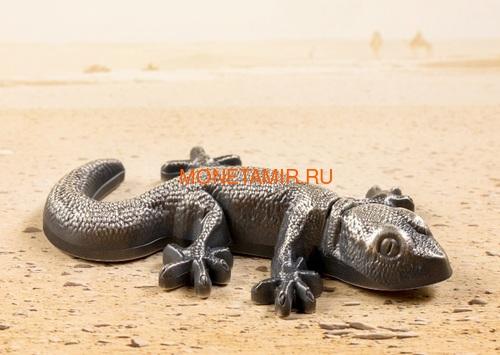 Палау 5 долларов 2018 Ящерица Геккон Фигурка (Palau 5$ 2018 Silver Gecko Lizard 3D).Арт.69 (фото, вид 3)