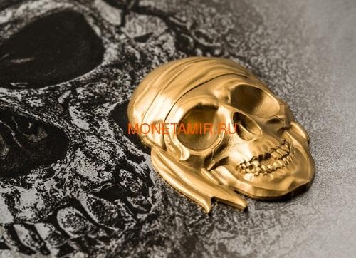 Палау 200 долларов 2018 Череп Пирата Черная Борода (Palau 200$ 2018 Pirate Skull Blackbeard 1oz Gold).Арт.69 (фото, вид 2)