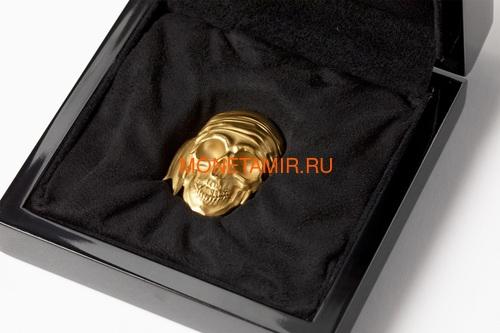 Палау 200 долларов 2018 Череп Пирата Черная Борода (Palau 200$ 2018 Pirate Skull Blackbeard 1oz Gold).Арт.69 (фото, вид 3)