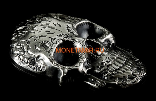 Палау 5 долларов 2018 Череп Катрины (Palau 5$ 2018 La Catrina Skull 1oz Silver).Арт.69 (фото, вид 3)