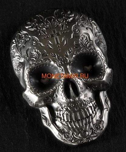 Палау 5 долларов 2018 Череп Катрины (Palau 5$ 2018 La Catrina Skull 1oz Silver).Арт.69 (фото, вид 4)