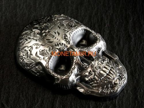 Палау 5 долларов 2018 Череп Катрины (Palau 5$ 2018 La Catrina Skull 1oz Silver).Арт.69 (фото, вид 5)
