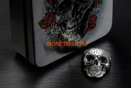 Палау 5 долларов 2018 Череп Катрины (Palau 5$ 2018 La Catrina Skull 1oz Silver).Арт.69 (фото, вид 6)