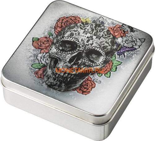 Палау 5 долларов 2018 Череп Катрины (Palau 5$ 2018 La Catrina Skull 1oz Silver).Арт.69 (фото, вид 7)