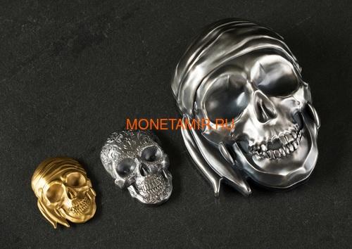 Палау 5 долларов 2018 Череп Катрины (Palau 5$ 2018 La Catrina Skull 1oz Silver).Арт.69 (фото, вид 8)