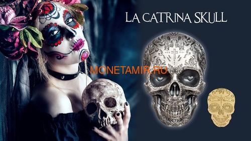 Палау 5 долларов 2018 Череп Катрины (Palau 5$ 2018 La Catrina Skull 1oz Silver).Арт.69 (фото, вид 9)