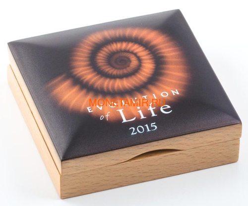 Монголия 500 тугриков 2015 Аммонит Эволюция (Mongolia 500T 2015 Ammonite Evolution 1oz Silver).Арт.60 (фото, вид 3)