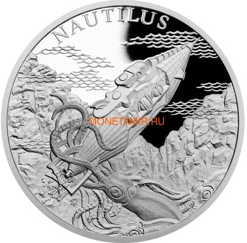 Ниуэ 2018 Набор 4 Монеты Мир Жюль Верна Наутилус Альбатрос Механический Слон Колумбиада (2018 Niue Jules Verne Nautilus Columbiad Mechanical Elephan Albatross 4 coin set).Арт.60 (фото, вид 1)