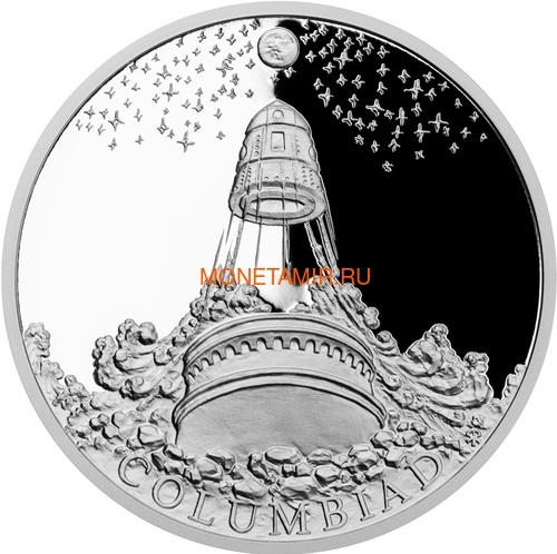 Ниуэ 2018 Набор 4 Монеты Мир Жюль Верна Наутилус Альбатрос Механический Слон Колумбиада (2018 Niue Jules Verne Nautilus Columbiad Mechanical Elephan Albatross 4 coin set).Арт.60 (фото, вид 5)