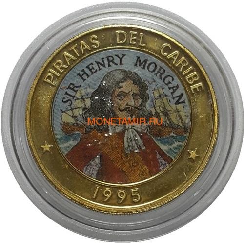Куба 6х50 песо 1995 Пираты Карибского Моря Набор Пробников Пьедфорт (Cuba 6х50 pesos 1995 Pirates of the Caribbean Coins Set Pattern Piedfort).Арт.000557437734/69 (фото, вид 2)