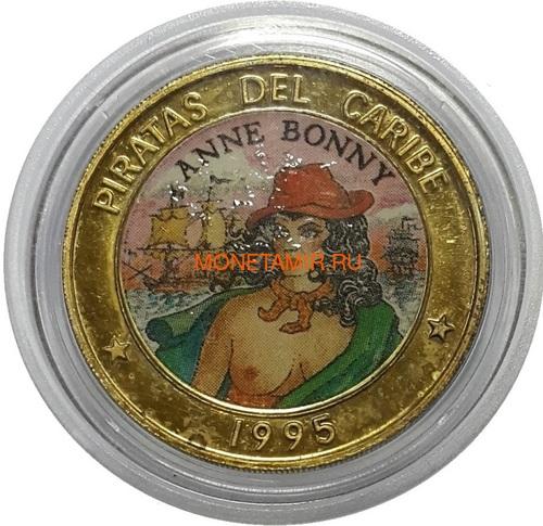 Куба 6х50 песо 1995 Пираты Карибского Моря Набор Пробников Пьедфорт (Cuba 6х50 pesos 1995 Pirates of the Caribbean Coins Set Pattern Piedfort).Арт.000557437734/69 (фото, вид 3)