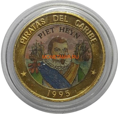 Куба 6х50 песо 1995 Пираты Карибского Моря Набор Пробников Пьедфорт (Cuba 6х50 pesos 1995 Pirates of the Caribbean Coins Set Pattern Piedfort).Арт.000557437734/69 (фото, вид 5)