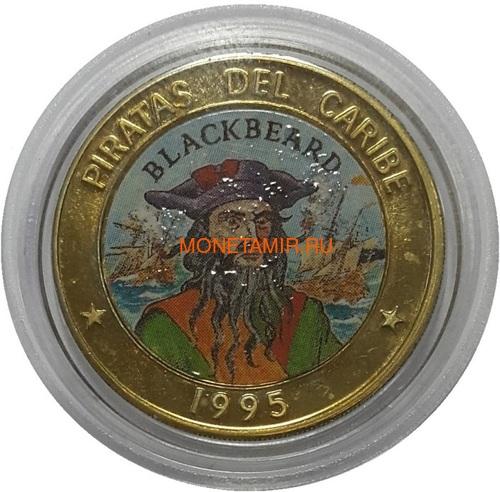 Куба 6х50 песо 1995 Пираты Карибского Моря Набор Пробников Пьедфорт (Cuba 6х50 pesos 1995 Pirates of the Caribbean Coins Set Pattern Piedfort).Арт.000557437734/69 (фото, вид 6)