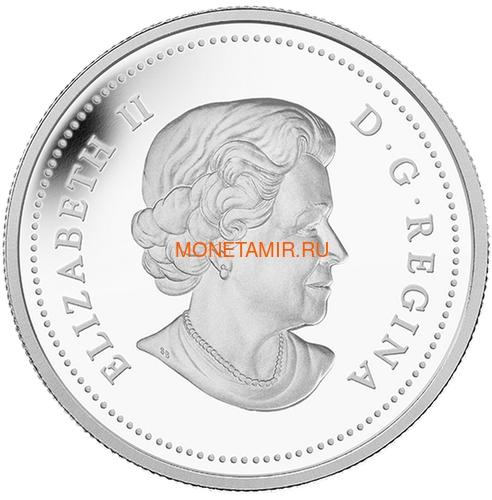 Канада 20 долларов 2014 Цветок Триллиум Прямостоячий Капля Дождя (Canada 20C$ 2014 Flower Trillium Raindrop Swarovski Silver Proof).Арт.000374548352/67 (фото, вид 1)