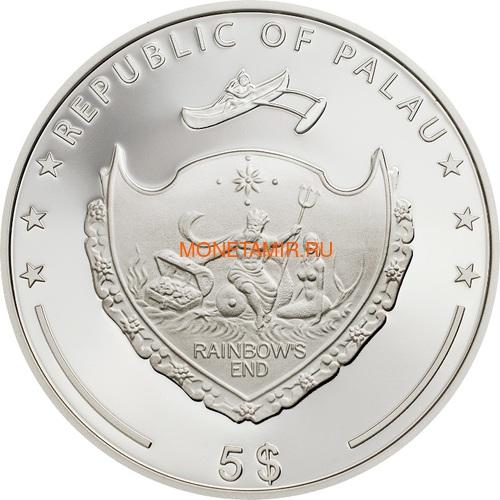 Палау 5 долларов 2018 Лето Любви (Palau 5$ 2018 Summer of Love 1Oz Silver Coin).Арт.67 (фото, вид 5)