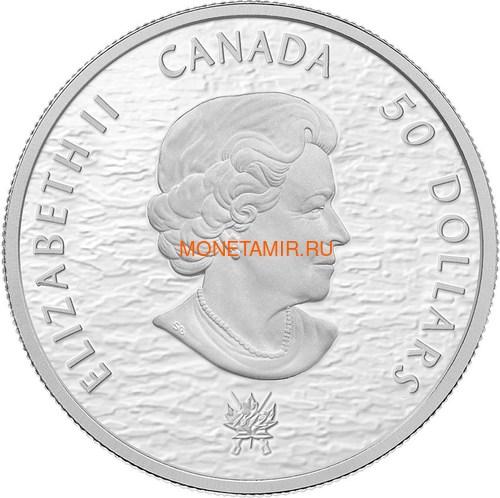Канада 50 долларов 2013 Корабли Шаннон и Чесапик (Canada 50$ 2013 Ship HMS Shannon & USS Chesapeake Silver Coin 5oz).Арт.003443044804/69 (фото, вид 1)