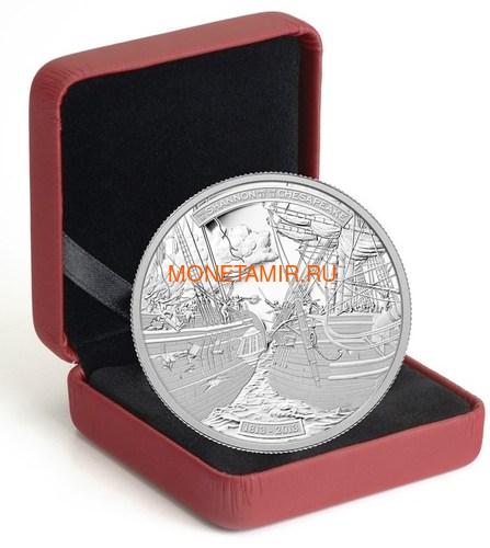 Канада 50 долларов 2013 Корабли Шаннон и Чесапик (Canada 50$ 2013 Ship HMS Shannon & USS Chesapeake Silver Coin 5oz).Арт.003443044804/69 (фото, вид 2)