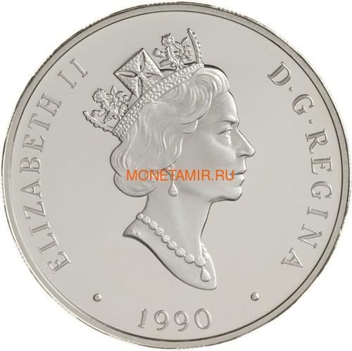 Канада 20 долларов 1990 Авро Ланкастер Летчик Джон Эмилиус Фокуир Авиация (Canada 20$ 1990 Aviation Series Avro Lancaster John Emilius Fauquier 1oz Silver Coin).Арт.68 (фото, вид 1)