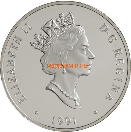 Канада 20 долларов 1991 Серебряный Дротик А.Д.МакКарди и Ф.В. Болдвин Авиация (Canada 20$ 1991 Aviation Series A.E.A. Silver Dart F.W.Baldwin and J.A.D. McCurdy 1oz Silver Coin).Арт.68 (фото, вид 1)