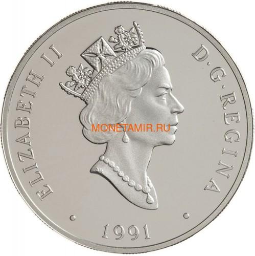 Канада 20 долларов 1991 Бобр Де Хэвилленд Филипп Гарретт Авиация (Canada 20$ 1991 Aviation Series De Havilland Beaver Phillip C.Garratt 1oz Silver Coin).Арт.68 (фото, вид 1)