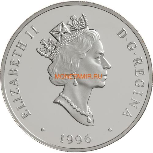 Канада 20 долларов 1996 Авро Канада CF-105 Стрела Джим Чамберлен Авиация (Canada 20$ 1996 Avro Canada CF-105 Arrow Jim Chamberlin Aviation Series 1oz Silver Coin).Арт.68 (фото, вид 1)